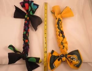 Hand-crafted pull toys made of polyester fleece, choose your own colors